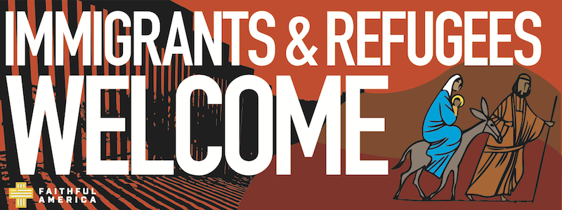 Immigrants and Refugees Welcome logo